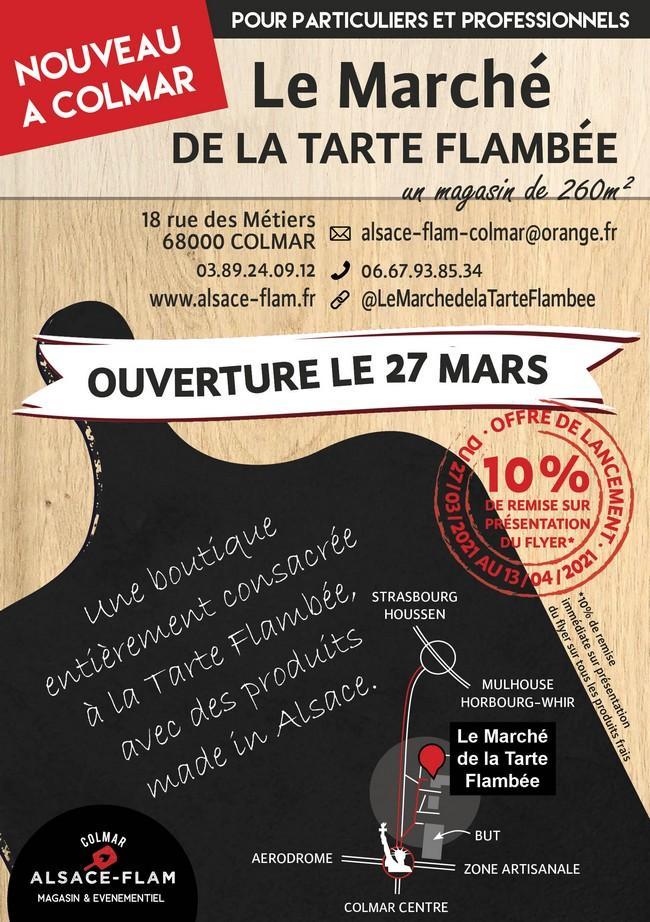Le Marché de la Tarte Flambée à Colmar
